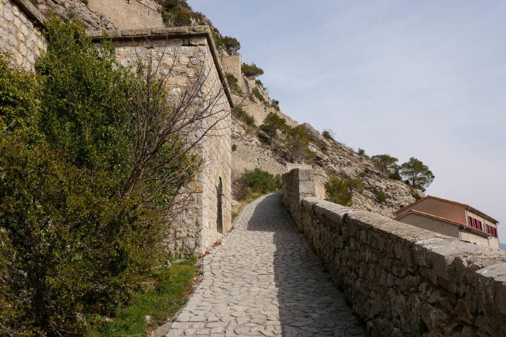 Rampa de acceso Citadelle Entrevaux