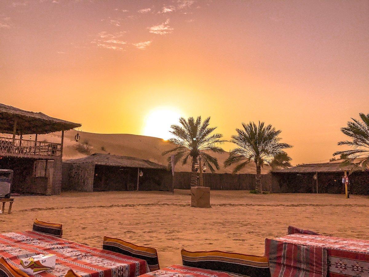 campamento del desierto en Dubai
