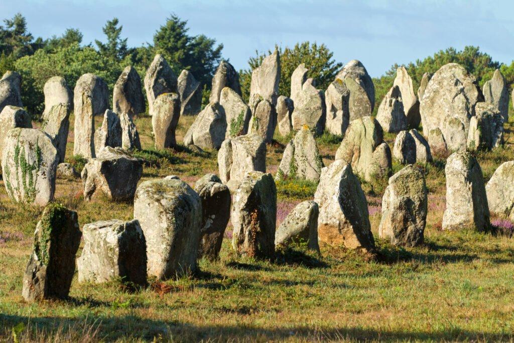 Los menhires de Carnac en Bretaña