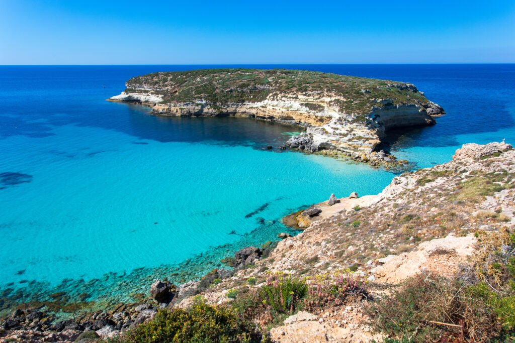 Paisajes de Lampedusa de Sicilia
