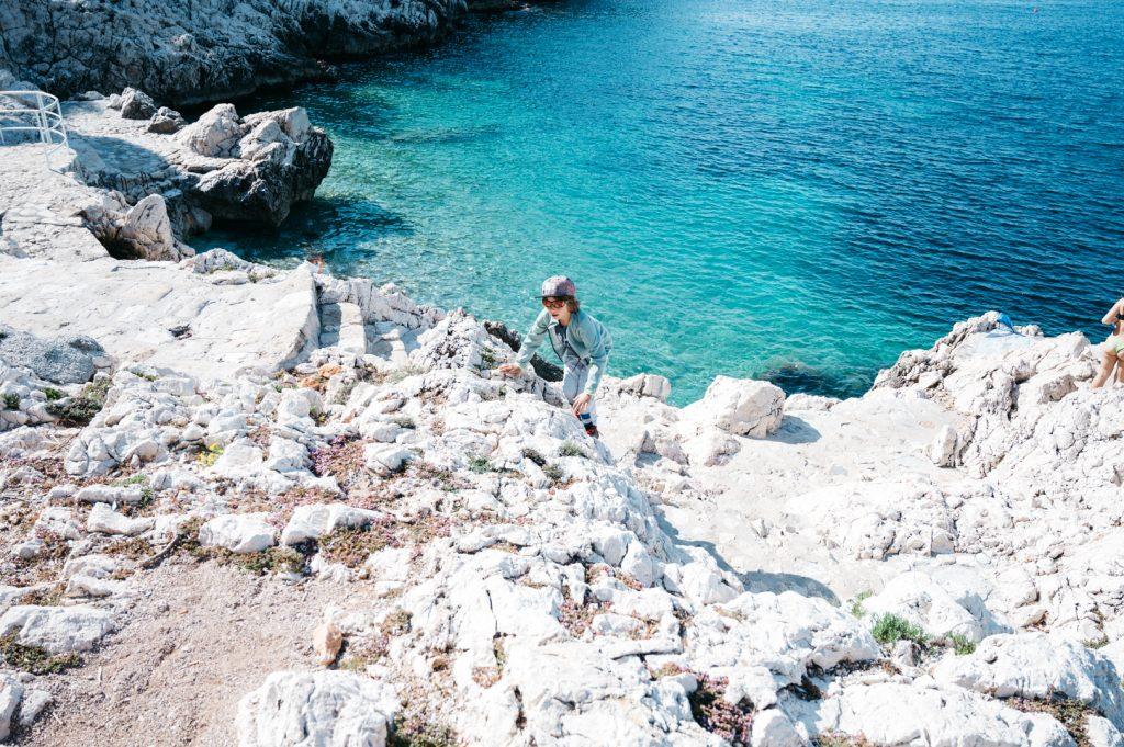 Cap de Nice con niños