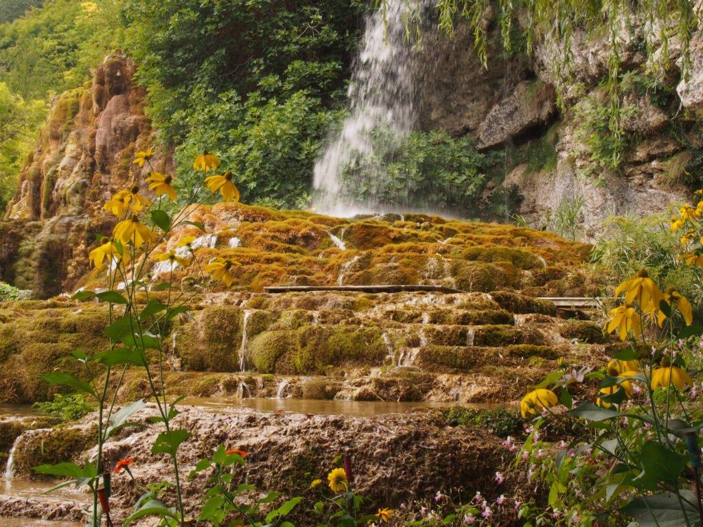 Jardín de las fuentes petrificantes en el Vercors