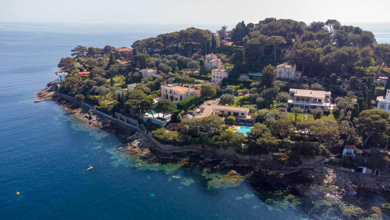 Pointe Saint-Hospice Saint Jean Cap Ferrat (vista de dron)