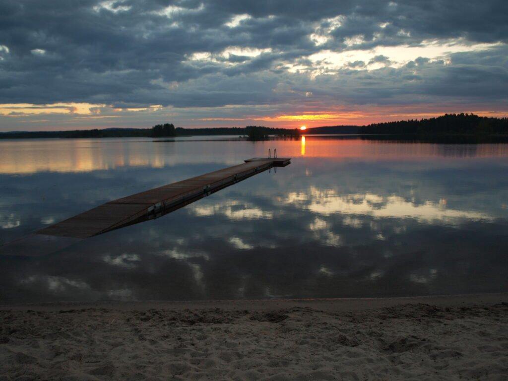 Sol de medianoche en Finlandia