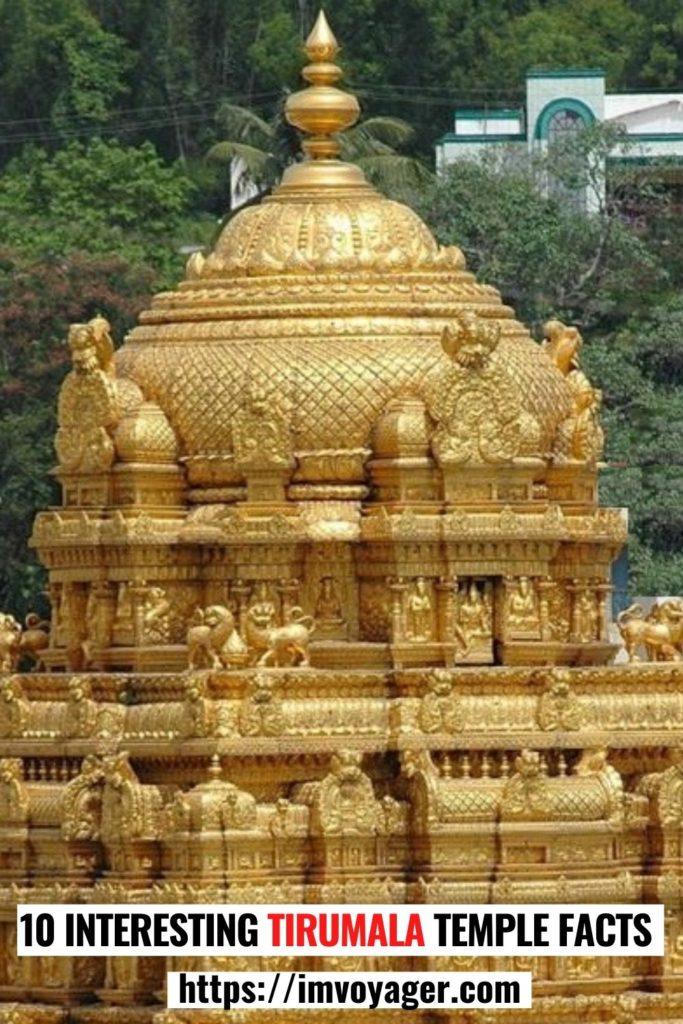 10 increíbles secretos del templo de Tirumala