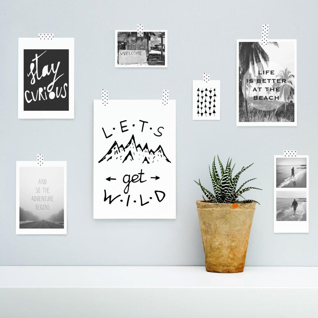 fotos decorativas con pegatinas