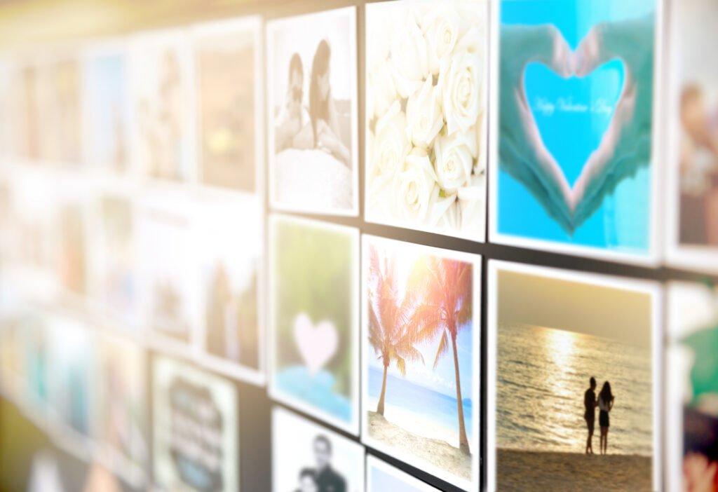 ideas para decorar fotos cuadradas
