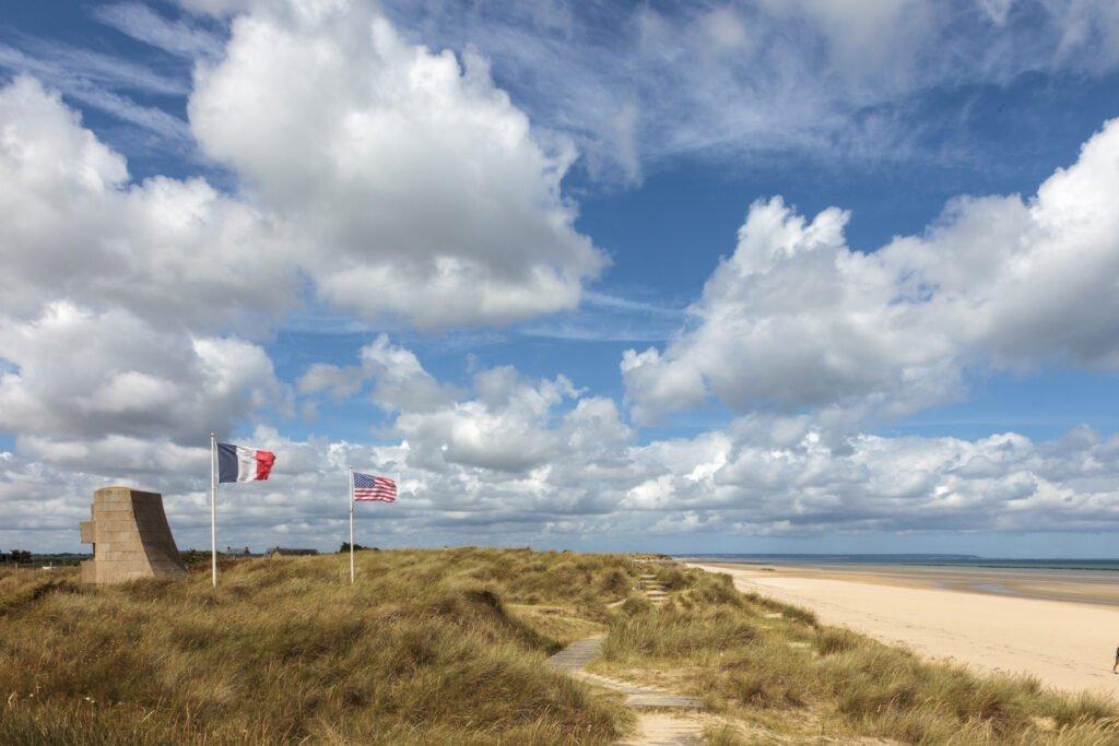 Playas del desembarco de Utah Beach en Normandía