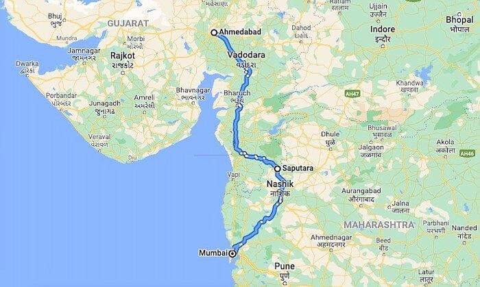 Saputara Location