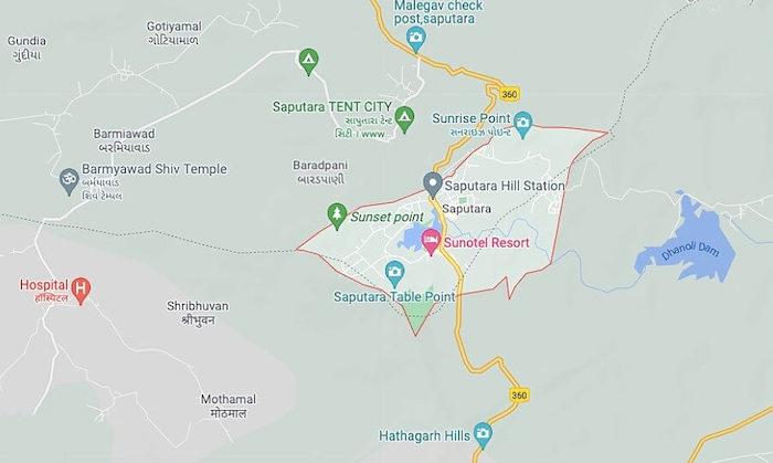 Map of Saputara