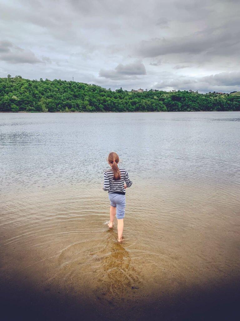 Lago Villerest cerca de Roanne